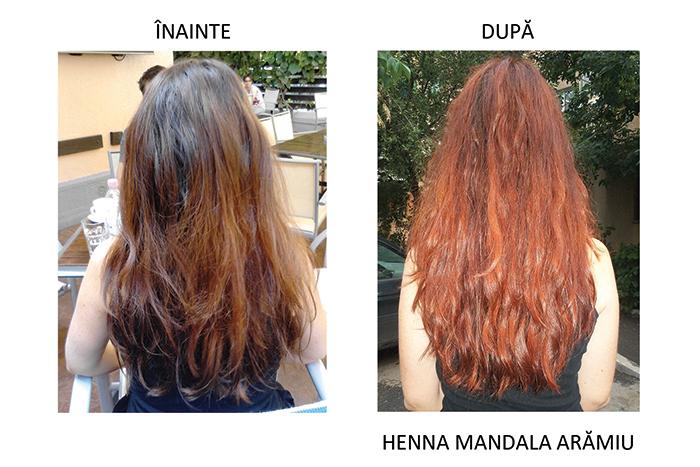 inainte si dupa Henna Mandala Aramiu