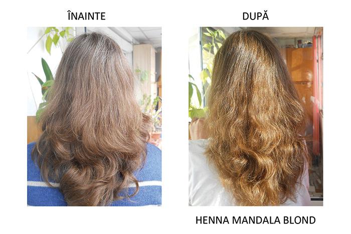 inainte si dupa Henna Mandala Blond