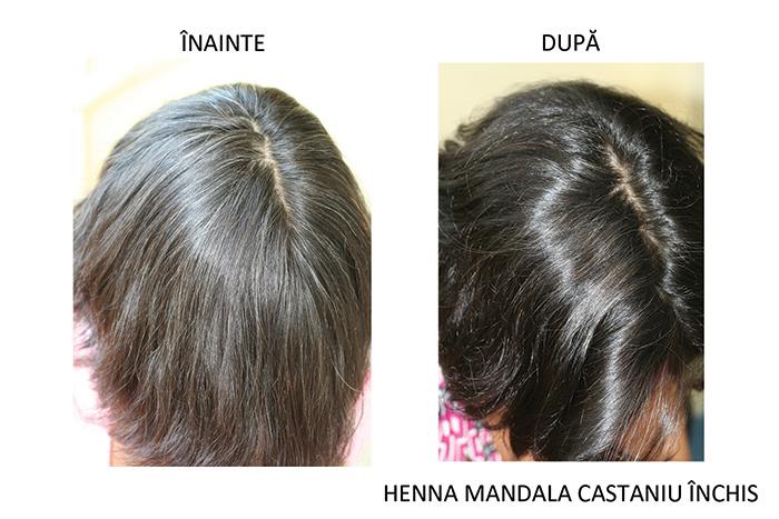 inainte si dupa Henna Mandala Castaniu Inchis
