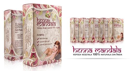 nuante vopsea naturala Henna Mandala