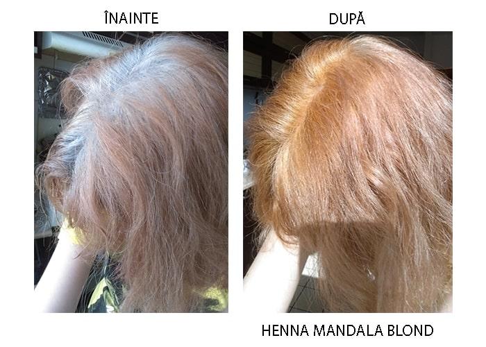 Henna Mandala Blond pe par alb