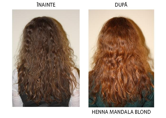 Henna Mandala Blond pe par blond inchis