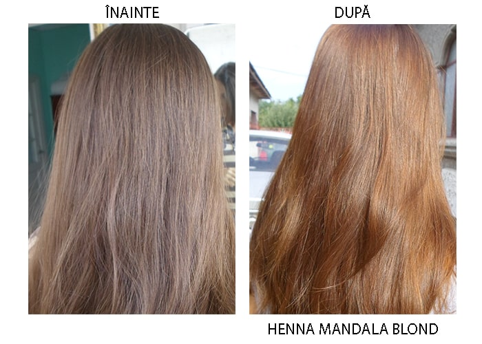 Henna Mandala Blond pe par saten deschis