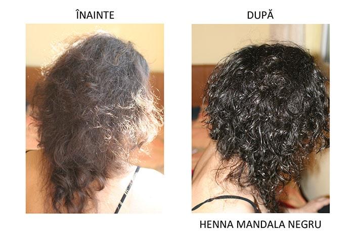 Par vopsit cu Henna Mandala Negru