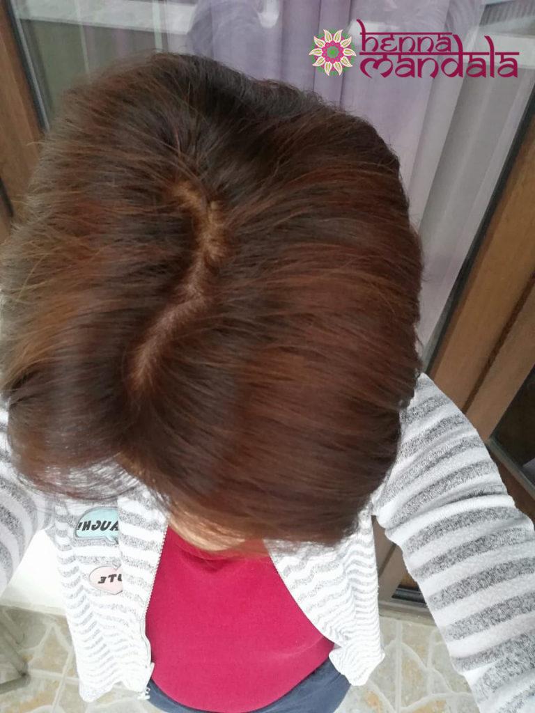 păr după henna mandala