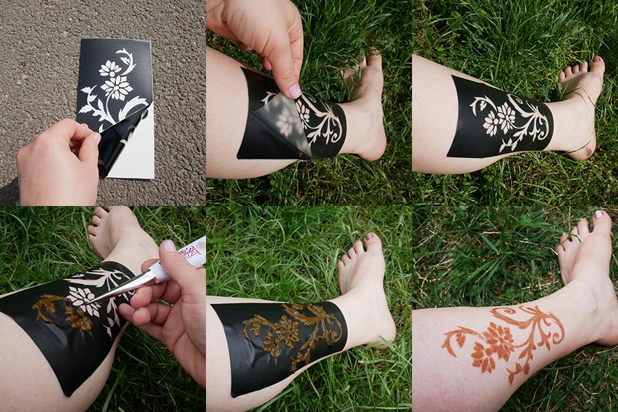 tatuaj cu sablon henna