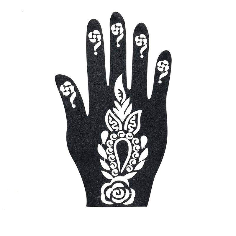 sablon henna tatuaje mehandi palma dreapta