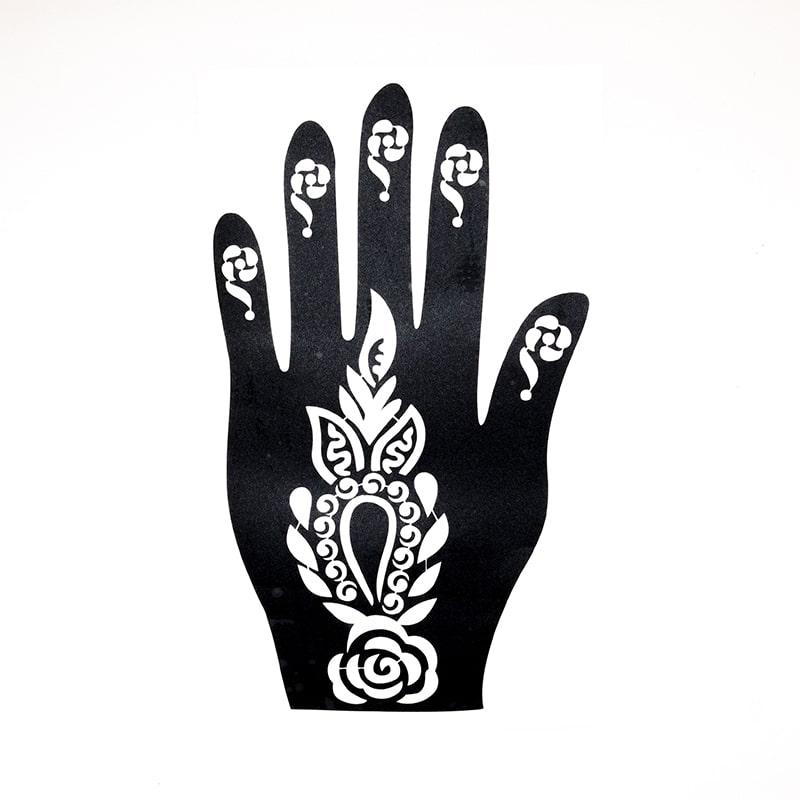 sablon henna tatuaje temporare palma stanga