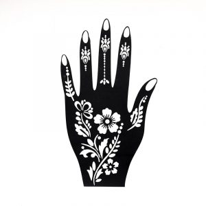 sablon henna tatuaje temporare floral palma stanga
